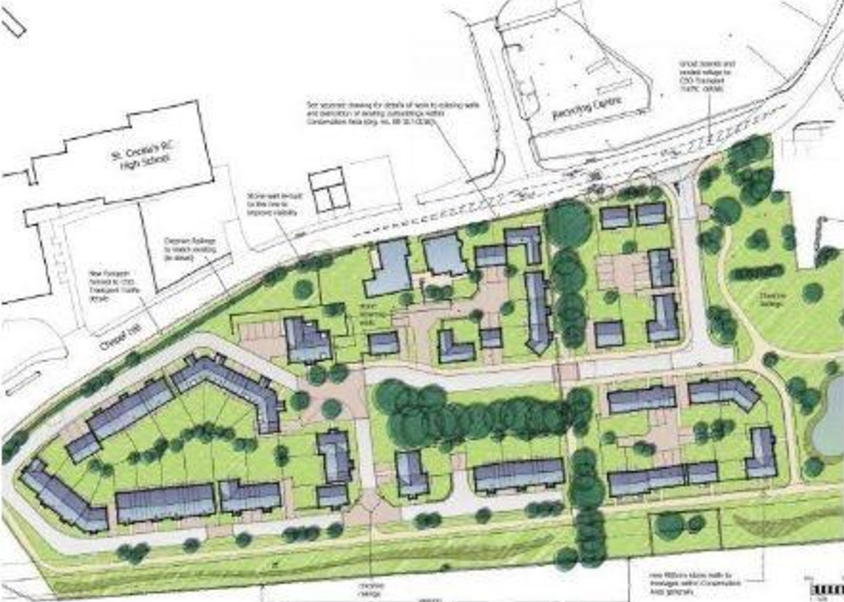 Site plans for Otterford Church barns